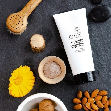 ASPAR AURORA SPA WATTLESEED AND WALNUT BODY SCRUB