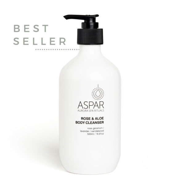 ASPAR AURORA SPA ROSE AND ALOE BODY CLEANSER